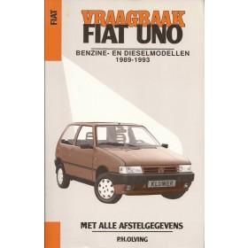 Fiat Uno Vraagbaak P. Olving  Benzine/Diesel Kluwer 1989-1993 nieuw Nederlands 1989 1990 1991 1992 1993