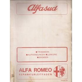 Alfa Romeo Alfa Romeosud Werkplaatshandboek  Aandrijving/Ophanging/Stuurinrichting/Remmen Benzine Fabrikant 72 ongebruikt   Duits