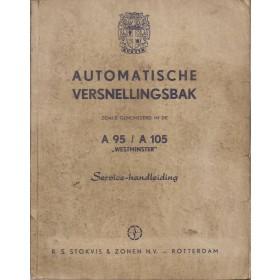 Austin A95/A105 Werkplaatshandboek  automatische versnellingsbak Benzine Fabrikant 56-59 met gebruikssporen   Engels