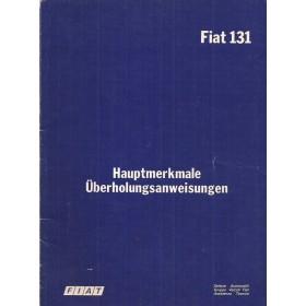Fiat 131 Hauptmerkmale und Daten   Benzine Fabrikant 78 met gebruikssporen   Duits