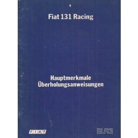 Fiat 131 Racing Hauptmerkmale und Daten   Benzine Fabrikant 78 met gebruikssporen   Duits