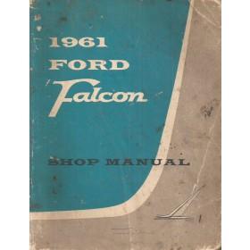 Ford Falcon Werkplaatshandboek   Benzine Fabrikant 61 met gebruikssporen   Engels