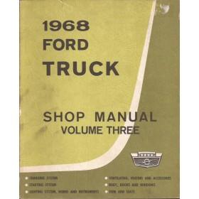 Ford Trucks USA Werkplaatshandboek   Benzine/Diesel Fabrikant 68 met gebruikssporen   Engels
