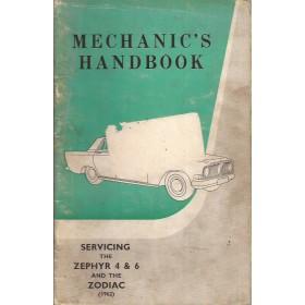Ford Zephyr/Zodiac Monteurshandleiding   Benzine Fabrikant 62 met gebruikssporen service-instructies  Engels