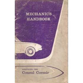 Ford Consul Corsair Monteurshandleiding   Benzine Fabrikant 64 met gebruikssporen service-instructies  Engels