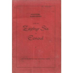 Ford Zephyr/Consul Monteurshandleiding   Benzine Fabrikant 51 ongebruikt service-instructies  Engels
