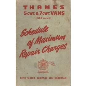 Ford Thames Monteurshandleiding   Benzine Fabrikant 51 met gebruikssporen factureertijden  Engels