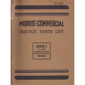 Morris MRA/1 Onderdelengids   Benzine Fabrikant 53 met gebruikssporen ringband, volledigheid niet verifieerbaar  Engels