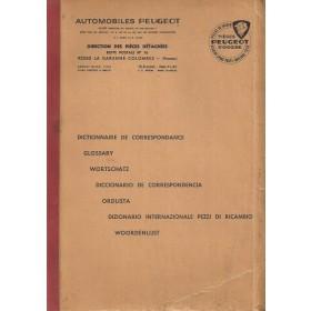 Peugeot Alle Vertaalhulp    Fabrikant 70 met gebruikssporen   Nederlands/Duits/Engels/Frans/Spaans/Italiaans