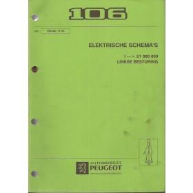 Peugeot 106 Werkplaatshandboek   Benzine Fabrikant 92-95 met gebruikssporen 7 delen (elektrische schema's, automatische versnellingsbak, airbag)  Nederlands