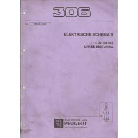 Peugeot 306 Werkplaatshandboek   Benzine Fabrikant 93 met gebruikssporen elektrische schema's  Nederlands