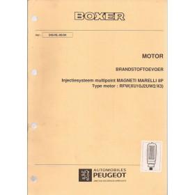 Peugeot Boxer Werkplaatshandboek   Benzine Fabrikant 94 met gebruikssporen 2 delen (remmen, brandstoftoevoer)  Nederlands