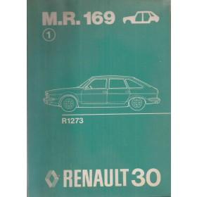 Renault 30 Werkplaatshandboek  R1273 Benzine Fabrikant 73 ongebruikt carrosserie  Nederlands