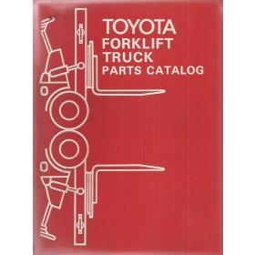 Toyota Heftruck 4FB Onderdelengids   Benzine Fabrikant 80 met gebruikssporen   Engels