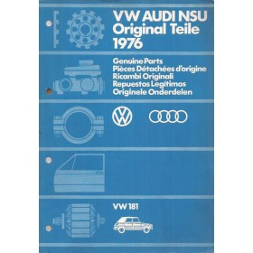 Volkswagen VW 181 Kubel Onderdelengids   Benzine  76 ongebruikt   Nederlands