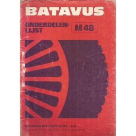 Batavus M48 Onderdelengids   Benzine Fabrikant 80 met gebruikssporen   Nederlands