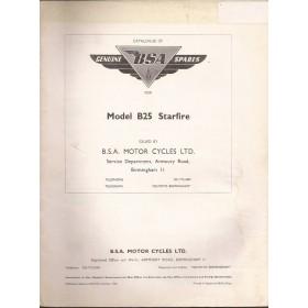 BSA B25 Starfire Onderdelengids   Benzine Fabrikant 69 met gebruikssporen   Engels