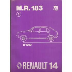 Renault 14 Werkplaatshandboek  R1210 Benzine Fabrikant 76 ongebruikt mechanisch gedeelte  Nederlands