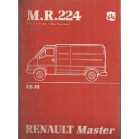 Renault Master Werkplaatshandboek FB30 Diesel Fabrikant 80 met gebruikssporen mechanisch gedeelte Nederlands
