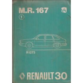 Renault 30 Werkplaatshandboek  R1273 Benzine Fabrikant 75 ongebruikt carrosserie  Nederlands