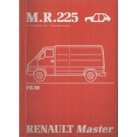 Renault Master Werkplaatshandboek FB30 Diesel Fabrikant 81 ongebruikt carrosserie Nederlands