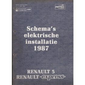 Renault 5/ExpressWerkplaatshandboek Benzine/Diesel Fabrikant 87 ongebruikt schema elektrische installatie Nederlands
