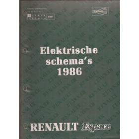 Renault Espace Werkplaatshandboek Benzine/Diesel Fabrikant 86 ongebruikt Elektrische schema Nederlands