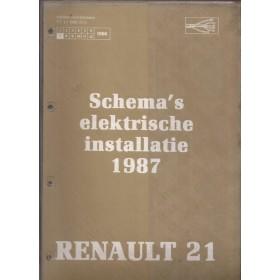 Renault 21 Werkplaatshandboek Benzine/Diesel Fabrikant 87 ongebruikt schema elektrische installatie Nederlands