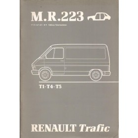 Renault Trafic Werkplaatshandboek Benzine/Diesel Fabrikant 80 met gebruikssporen carrosserie Nederlands