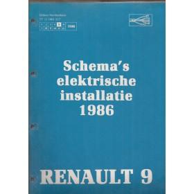 Renault 9 Werkplaatshandboek Benzine/Diesel Fabrikant 86 ongebruikt Elektrische schema Nederlands