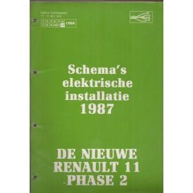 Renault 11 Werkplaatshandboek Benzine/Diesel Fabrikant 87 ongebruikt Elektrische schema Nederlands