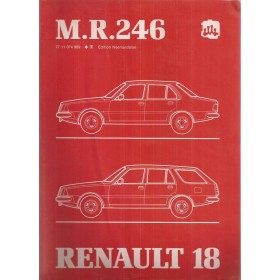 Renault 18 R1340 R1341 R235 Werkplaatshandboek Benzine/Diesel Fabrikant 83 met gebruikssporen mechanisch gedeelte Nederlands