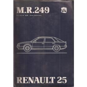 Renault 25 B290 B296 B297 B298 B29E Werkplaatshandboek Benzine/Diesel Fabrikant 83 met gebruikssporen mechanisch gedeelte Nederlands