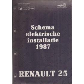 Renault 25 Werkplaatshandboek Benzine/Diesel Fabrikant 87 ongebruikt schema elektrische installatie Nederlands