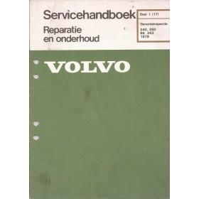 Volvo 66/240/260/343 Servicehandboek Garantie-inspectie Fabrikant 1979 met gebruikssporen Nederlands
