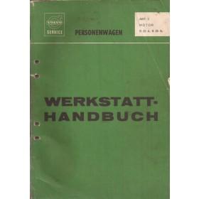 Volvo B20A B20B Werkplaatshandboek Fabrikant 1973 met gebruikssporen Duits