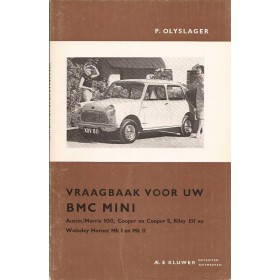 B.M.C. Mini Vraagbaak P. Olyslager  Benzine Kluwer 59-65 ongebruikt   Nederlands