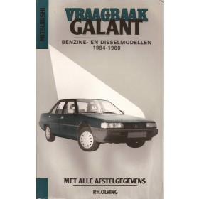 Mitsubishi Galant Vraagbaak P. Olving  Benzine/Diesel Kluwer 84-88 ongebruikt lichte kreukel  Nederlands
