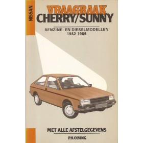 Nissan Cherry/Sunny Vraagbaak P. Olving model N12 Benzine Kluwer 82-86 met gebruikssporen   Nederlands