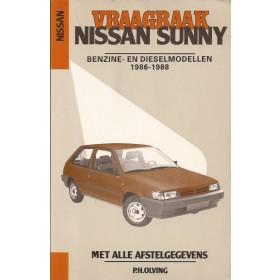 Nissan Sunny Vraagbaak P. Olving model N13/B12 Benzine/Diesel Kluwer 1986-1988 nieuw Nederlands 1986 1987 1988