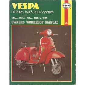 Vespa PX150/PX200 Owners workshop manual J. Haynes Mengsmering Haynes UK 78-85 met gebruikssporen Engels