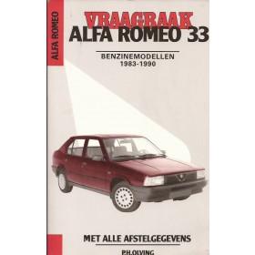 Alfa Romeo 33 Vraagbaak P. Olving  Benzine Kluwer 83-90 met gebruikssporen   Nederlands