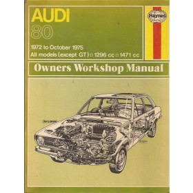 Audi 80 Owners workshop manual J. Haynes  Benzine Haynes UK 72-75 met gebruikssporen   Engels