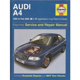 Audi A4 Owners workshop manual J. Haynes Type B5 Benzine/Diesel Haynes UK 95-00 met gebruikssporen   Engels