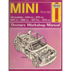 Austin Mini Owners workshop manual J. Haynes  Benzine Haynes UK 59-69 met gebruikssporen   Engels