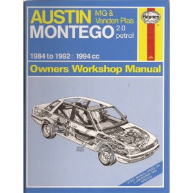 Austin/MG/Rover Montego Owners workshop manual J. Haynes  Benzine Haynes UK 1984-1992 ongebruikt Engels 1984 1985 1986 1987 1988 1989 1990 1991 1992