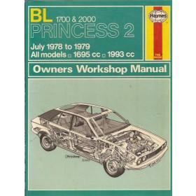 Princess 1700/2000 Owners workshop manual J. Haynes  Benzine Haynes UK 78-79 met gebruikssporen intensieve gebruikssporen  Engels