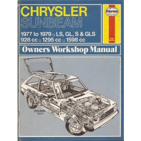 Chrysler Sunbeam Owners workshop manual J. Haynes  Benzine Haynes UK 77-79 met gebruikssporen   Engels