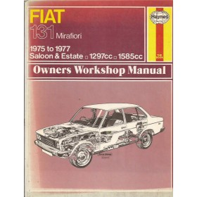 Fiat 131 Mirafiori Owners workshop manual J. Haynes  Benzine Haynes UK 75-77 met gebruikssporen   Engels