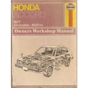 Honda Accord Owners workshop manual J. Haynes  Benzine Haynes UK 76-77 met gebruikssporen   Engels